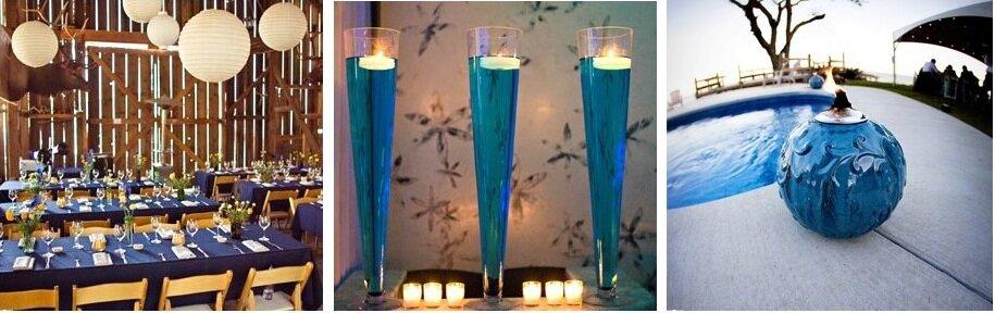 mavi düğün konsept