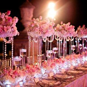 pembe renk düğün dekorasyonu