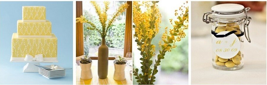 sarı renk düğün konsepti