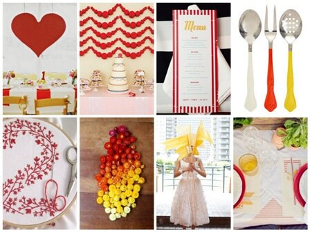 sarı kırmızı düğün dekorasyon