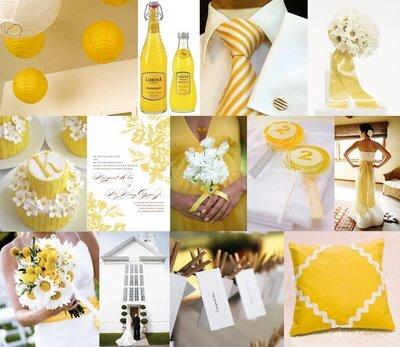 sarı renk düğün teması